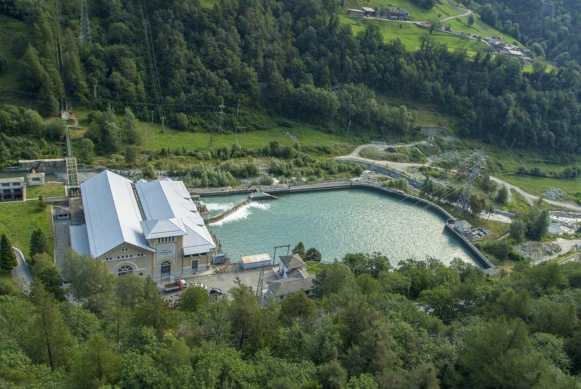 Centrale idroelettrica di Covalou produzione energia verde Gruppo CVA
