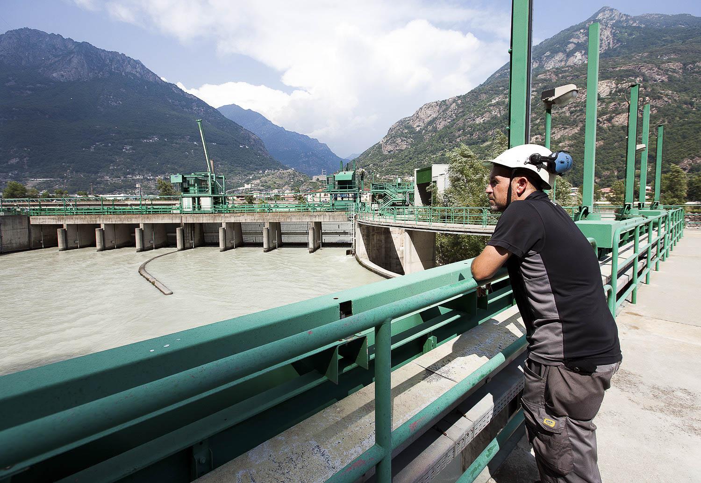 Impianto produzione energia idroelettrica Green di Quincinetto