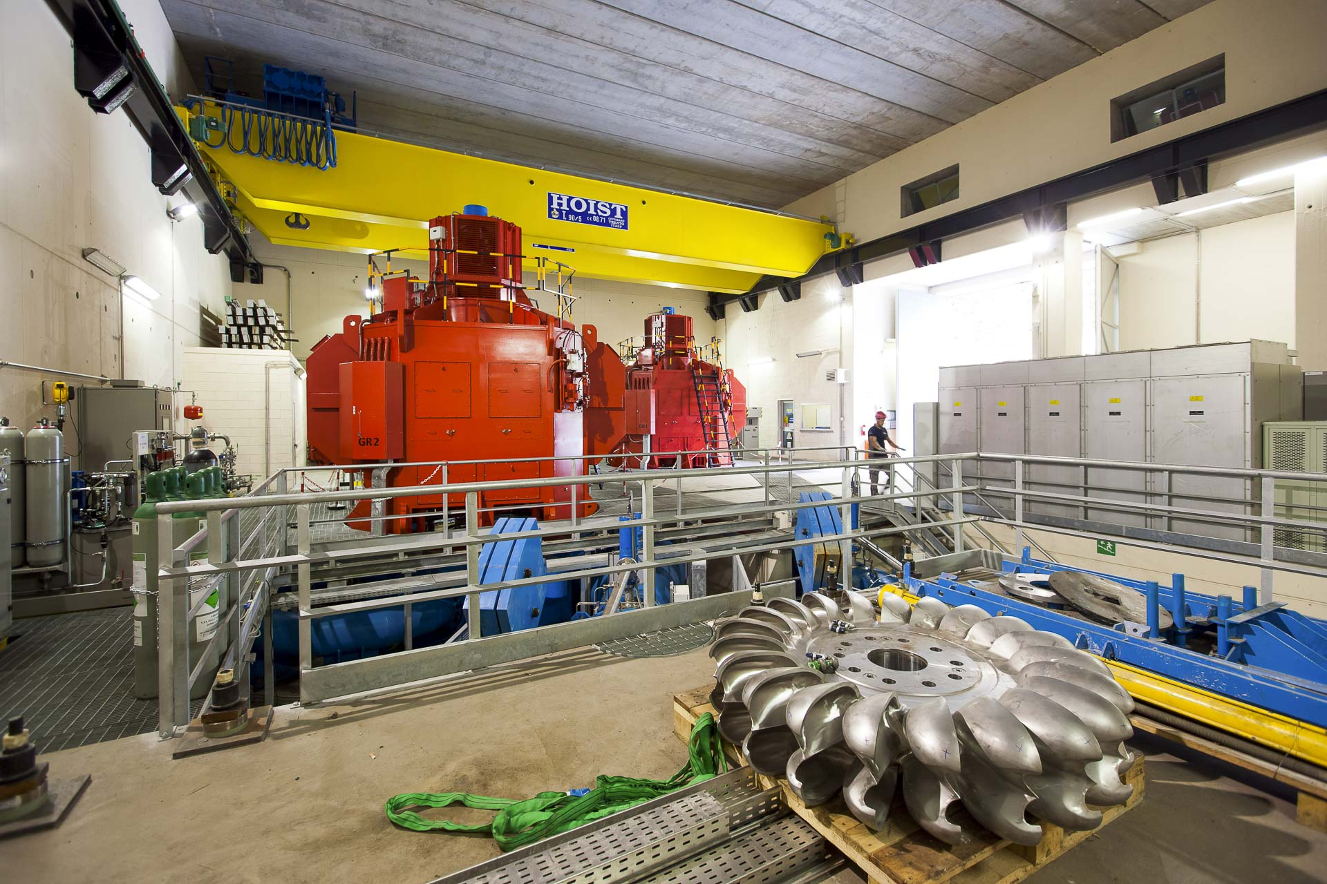 Centrale idroelettrica CVA a Torrent produzione energia verde